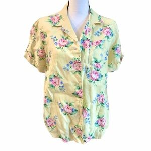 Lauren Ralph Lauren Floral Button Down Blouse